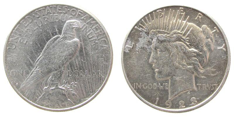 1 Dollar 1923 USA Ag Peace, S (San Francisco) ss-vz
