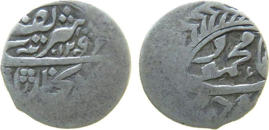 1 Tenga 1874 Usbekistan Ag AH1296, Emirate of Bukhara schön