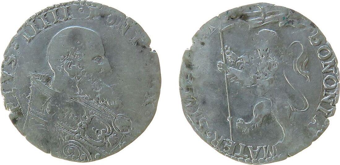Bianco 1566-72 o.J. Vatikan Ag Pius V (1566-1572), ½ Lire, Bologna ...