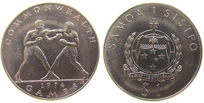 1 Tala 1974 West Samoa KN Commonwealthspiele - Boxen unz