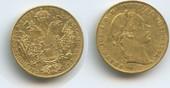 1 Dukat 1859 E Österreich Ungarn Siebenbürgen M#3384 Kaiser Franz Joseph 1848-1916 SEHR RAR sehr schön, Henkelspur