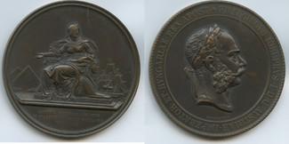 Bronzemedaille  RDR - Österreich Ägypten M#0022 - Auf die Eröffnung des Suezkanals - von Tautenhayn Vorzüglich - Unzirkuliert