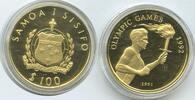 Samoa Western-Samoa 100 Tala M#3349 - Papua Neuguinea 100 Kina GOLD