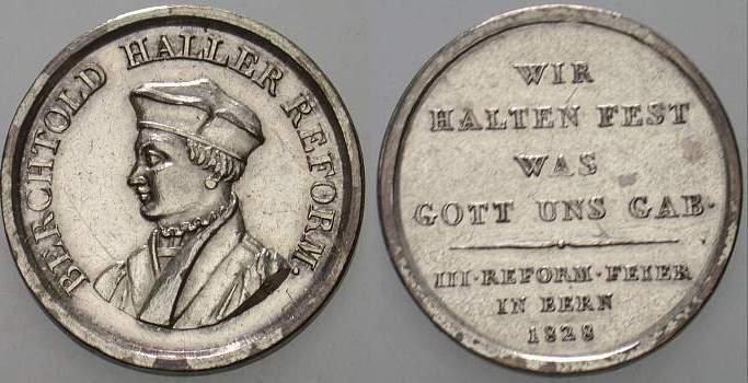 Silbermedaille 1828 Reformation Sehr schön