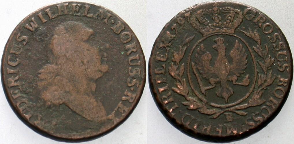 3 Groschen 1797 B - Breslau Brandenburg-Preußen Friedrich Wilhelm II. 1786-1797. Schön / fast sehr schön