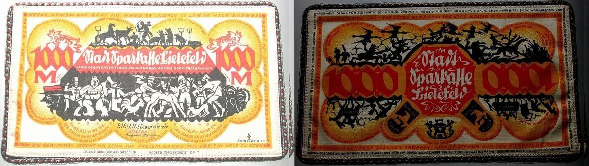 1000 Mark 1922-12-15 Bielefeld Fast kassenfrisch