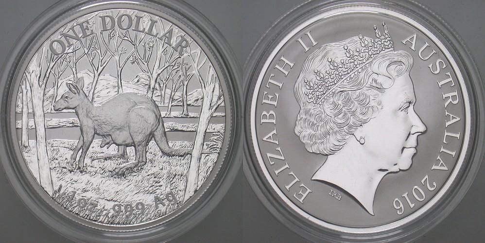 1 Dollar 2016 Australien Elizabeth II., 1952. Stempelglanz