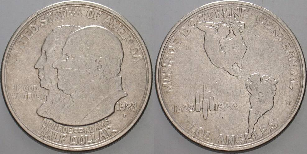 1/2 Dollar 1923 S Vereinigte Staaten von Amerika Gedenkmünzen. Fast sehr schön