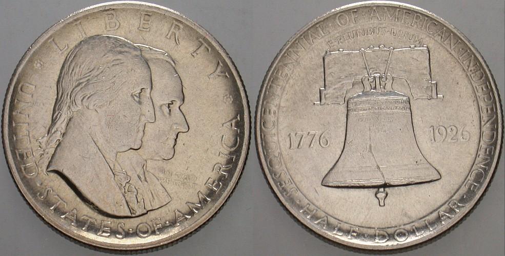 1/2 Dollar 1926 Vereinigte Staaten von Amerika Gedenkmünzen. Vorzüglich +