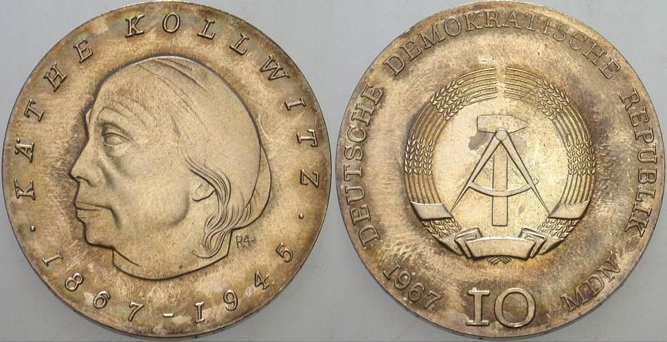 10 Mark 1967  Patina, fast Stempelglanz