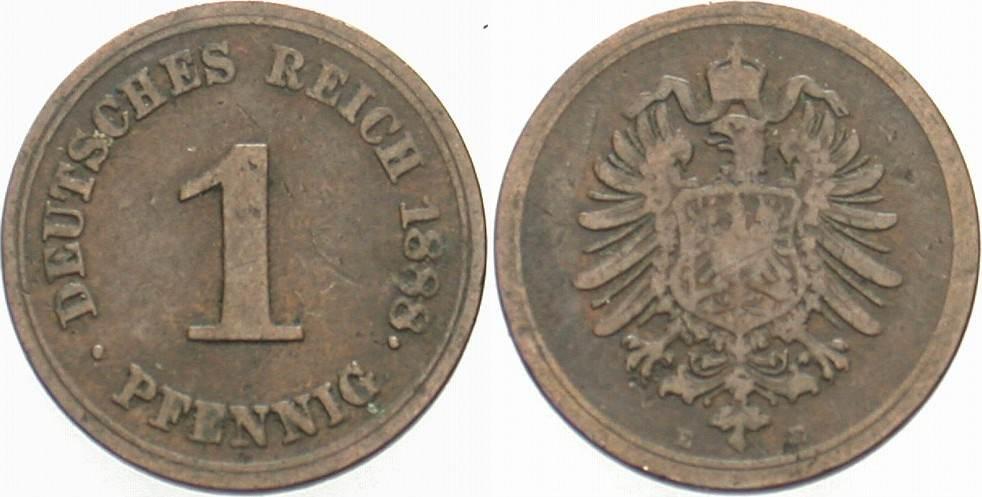 1 Pfennig 1888 E Kleinmünzen Schön - sehr schön