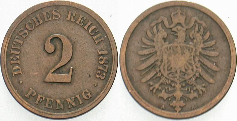 2 Pfennig 1873 A Kleinmünzen Schön - sehr schön