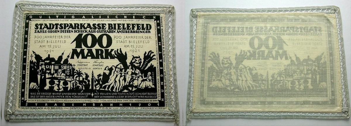 100 Mark 15.7.1921 Bielefeld Fast Kassenfrisch