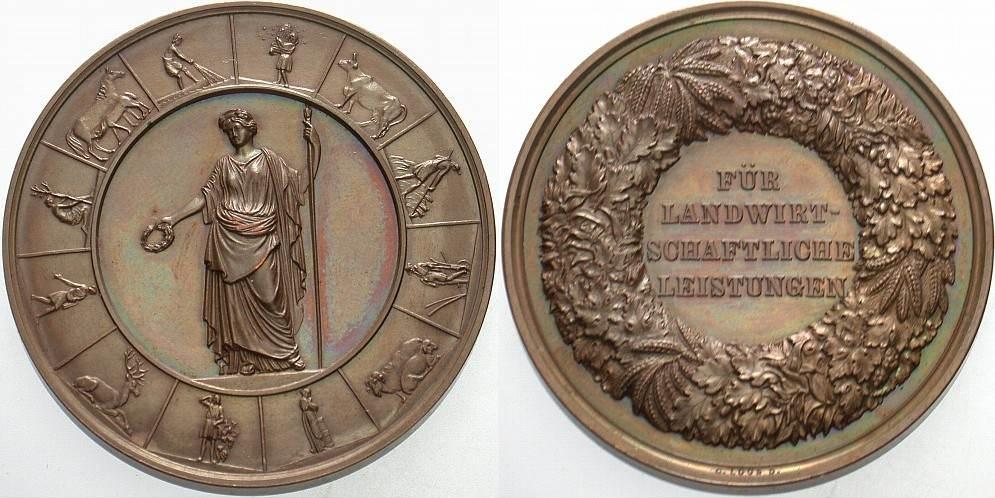 Bronzemedaille o.J. Brandenburg-Preußen Wilhelm II. 1888-1918. Schöne Patina, fast Stempelglanz