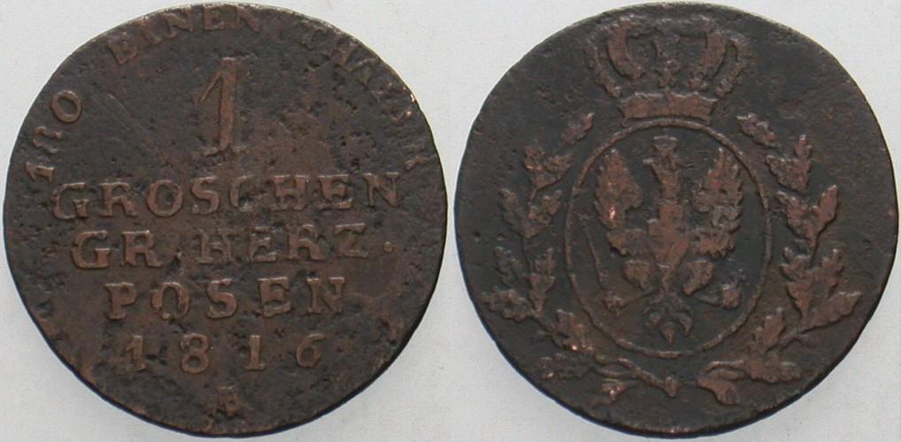 1 Groschen 1816 B Preußen Friedrich Wilhelm III. 1797-1840 Schön