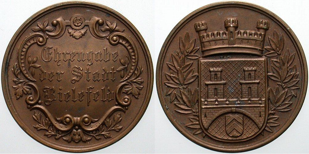 Bronzemedaille o.J Bielefelder Medaillen Vorzüglich
