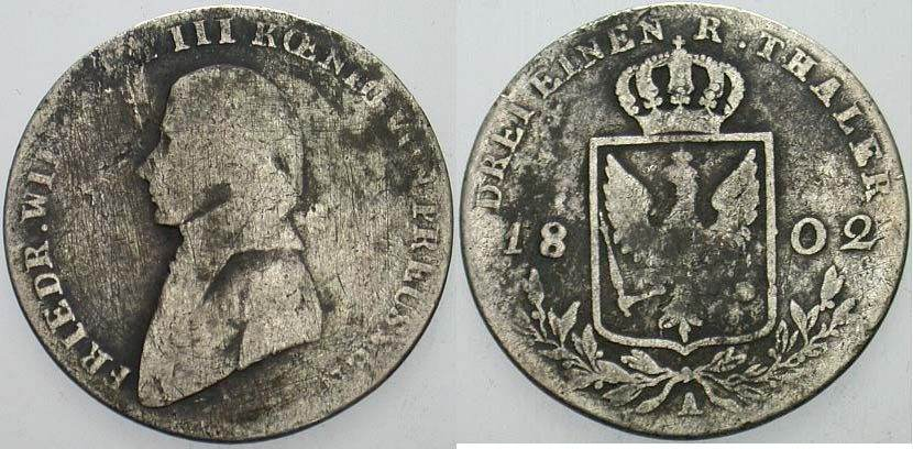 13 Taler 1802 A Preußen Friedrich Wilhelm Iii 1797 1840 Gering