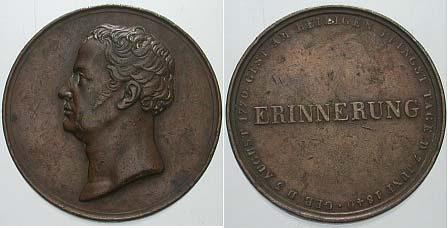 Bronzemedaille 1840 Preußen Friedrich Wilhelm III. 1797-1840 Winz. Randfehler, fast sehr schön