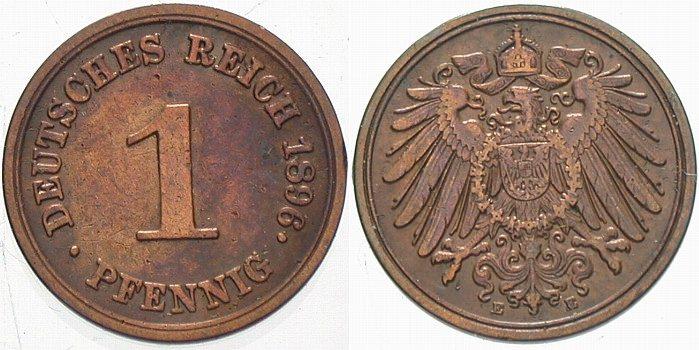 Afbeeldingsresultaat voor 1 pfennig 1896