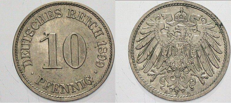 10 Pfennig 1899 A Kleinmünzen Vorzüglich - Stempelglanz