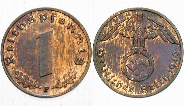 2 Reichspfennig 1936 A  Patina, vorzüglich - Stempelglanz