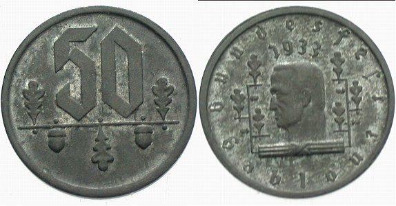50 1933, Bundesfest Gablonz, (Böhmen) Vorzüglich