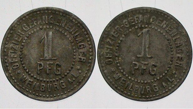1 Pfennig o.J Weilburg Sehr schön