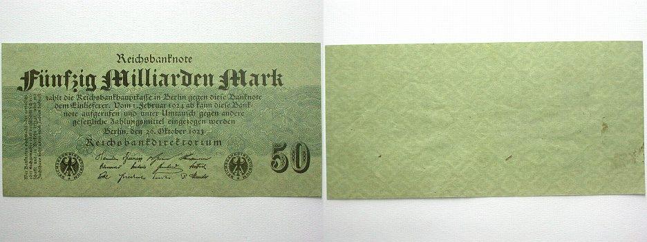 50 Milliarden Mark 26 Banknoten nach Rosenberg Leicht gebraucht