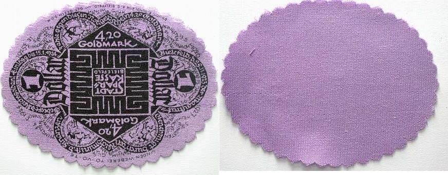 4,20 Goldmark = 1 Dollar 1923-11-25 Bielefeld Kassenfrisch