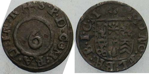 Körtling ohne Jahr Bielefeld Ravensberg Friedrich Wilhelm von Brandenburg ab 1647 Sehr schön
