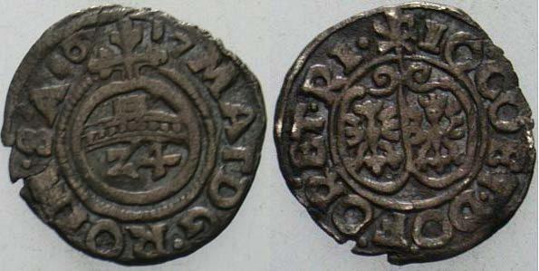 1/24 Taler 1617 Rietberg-Grafschaft Johann III. von Ostfriesland 1601-1625 Schrötlingsfehler, sehr schön
