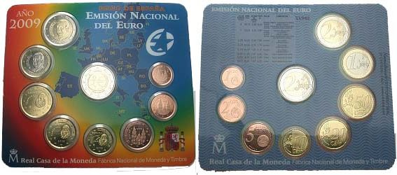 Kursmünzensatz 1 Cent-2 Euro 2009 Spanien Stempelglanz
