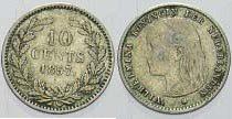 10 Cent 1897 Niederlande-Königreich Wilhelmina I. 1890-1948. Sehr schön +
