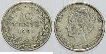 10 Cent 1904 Niederlande-Königreich Wilhelmina I. 1890-1948. Sehr schön