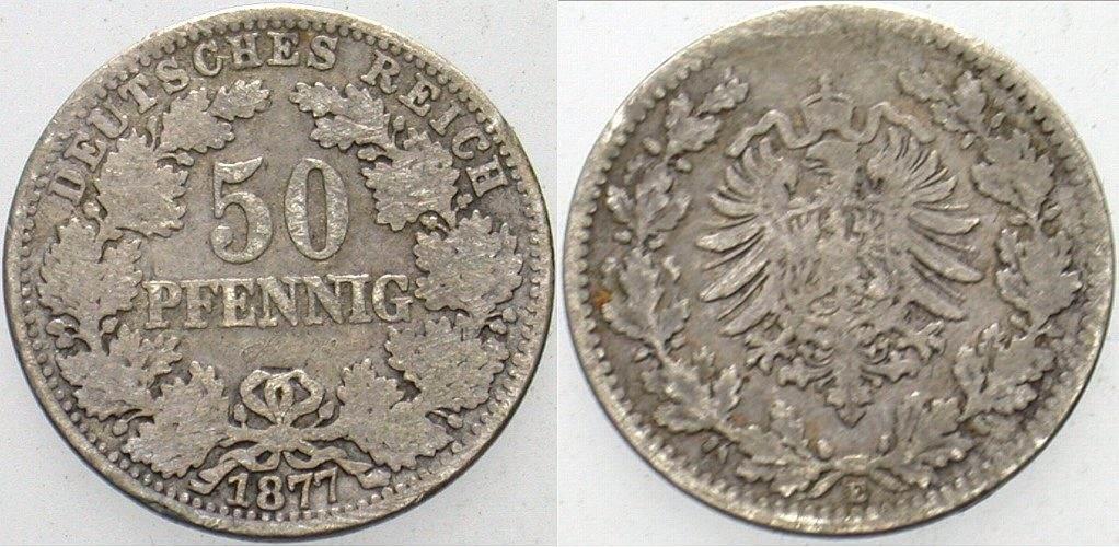 50 Pfennig 1877 E Kleinmünzen Schön - sehr schön