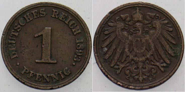 1 Pfennig 1893 E Kleinmünzen Schön