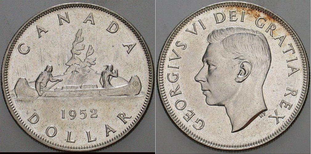 Dollar 1952 Kanada Vorzüglich