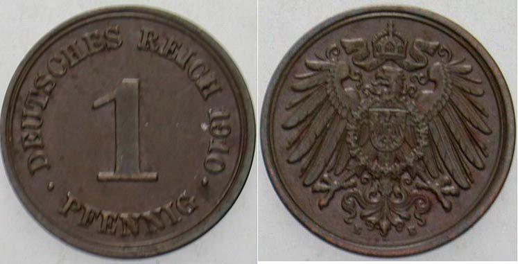 1 Pfennig 1910 E Kleinmünzen Vorzüglich