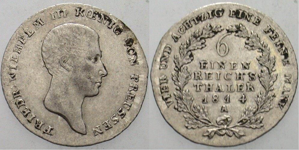 16 Taler 1814 A Preußen Friedrich Wilhelm Iii 1797 1840 Vf Ma Shops