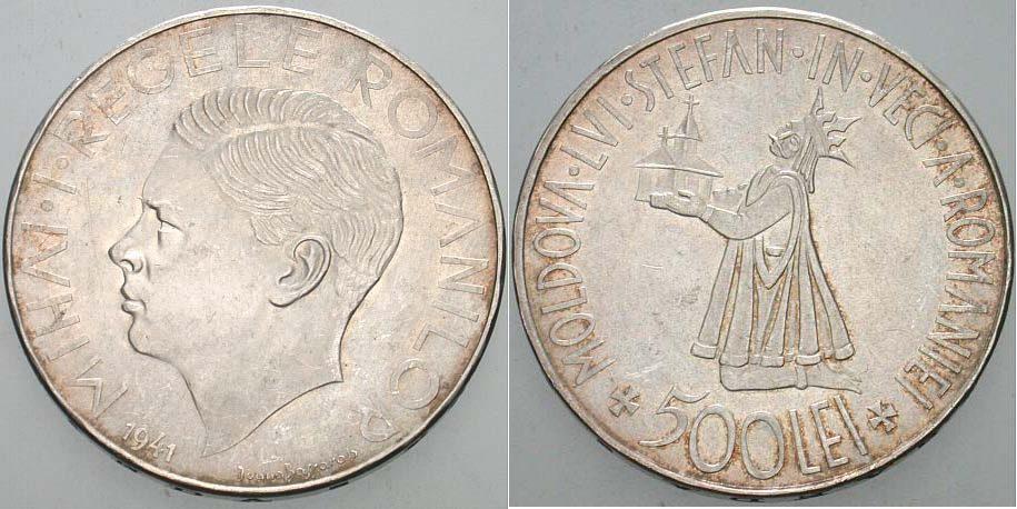 500 Lei 1941 Bukarest Rumänien Michael I., 1940-1947 Vorzüglich