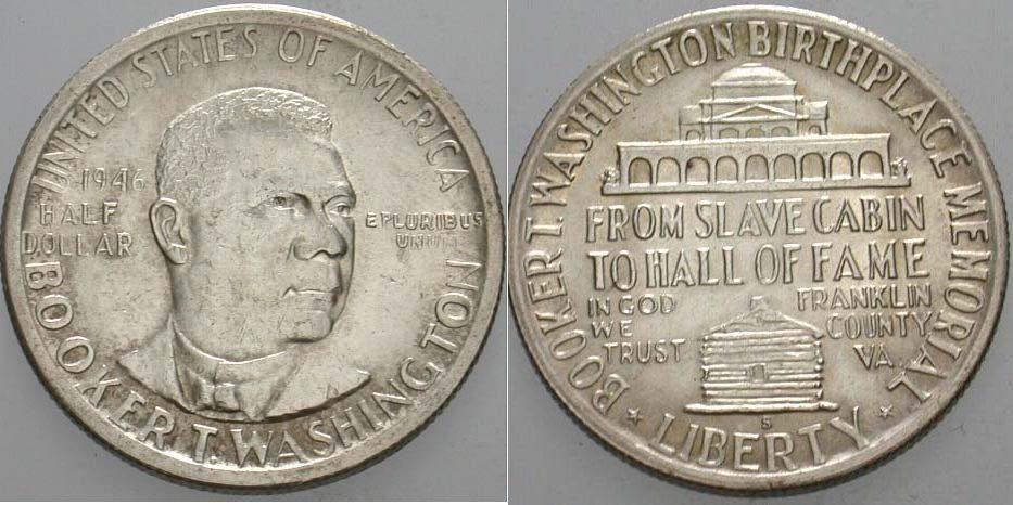 1/2 Dollar 1946 S Vereinigte Staaten von Amerika Gedenkmünzen. Patina, vorzüglich - Stempelglanz