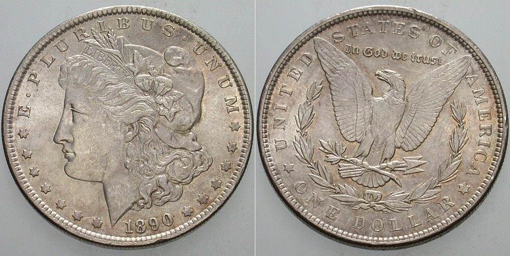 1 Dollar 1890 Vereinigte Staaten von Amerika Vorzüglich