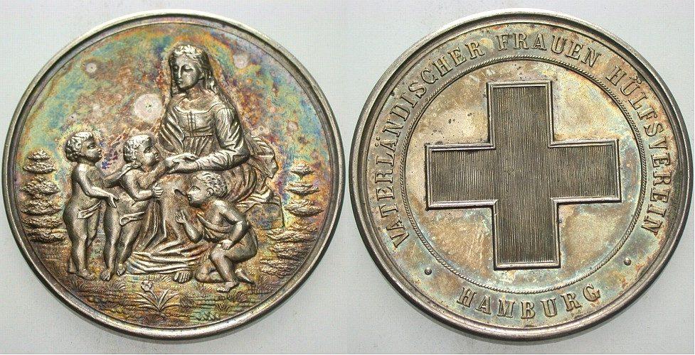 Silbermedaille o.J. Hamburg, Stadt Patina, vorzüglich