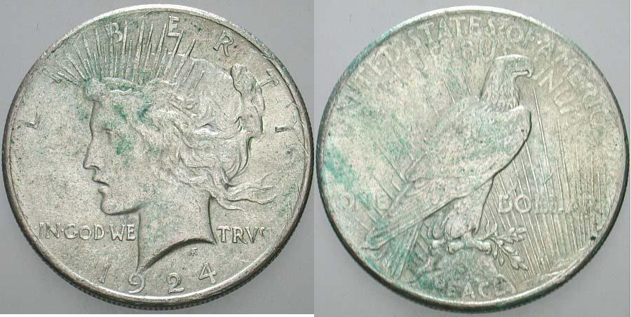 1 Dollar 1924 Vereinigte Staaten von Amerika Patina, sehr schön +