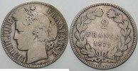 Frankreich 2 Francs Dritte Republik 1870-1940.