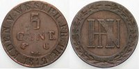 Westfalen, Königreich 5 Centimes Hieronymus Napoleon 1807-1813.