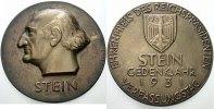 Personenmedaillen Bronzegussmedaille Stein, Heinrich Friedrich Karl Freiherr vom *1757 Nassau, +1831 Kappenberg.