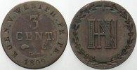 Westfalen, Königreich 3 Centimes Hieronymus Napoleon 1807-1813.