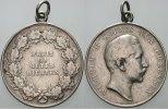 Brandenburg-Preußen Silberne Richt-Preismedaille zu 4 1/2 Ma Wilhelm II. 1888-1918.