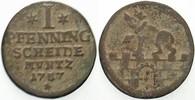 Anhalt-Bernburg Cu Pfennig Victor Friedrich 1721-1765.